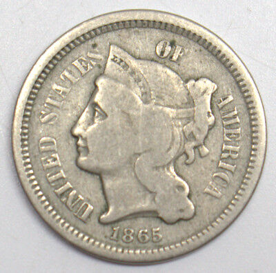 1856 3 Cent Nickel Us Coin #100101-1D