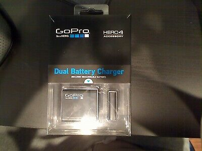 New! - Genuine GoPro Dual Battery Charger with Battery for HERO4 - AHBBP-401