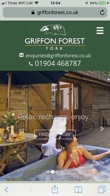 Forest log cabin holiday with hot tub 28 jan short breakyork