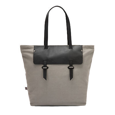 f32340d9d1 DUDU Large Tote Shoulder Bag for Women in Canvas and Leather Two-Colored  Shoppin