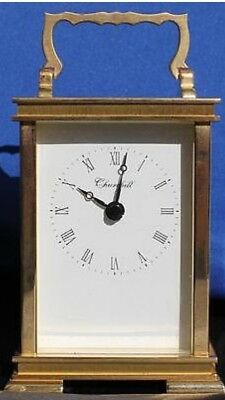 Solid Brass Churchill Vintage Mantel Carriage Clock