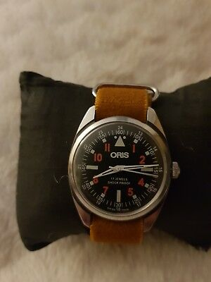 Vintage Refurbished Oris 1971/1983 17 jewels pilot style watch lovely condition.