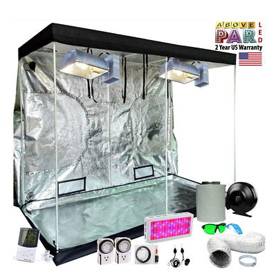 5X5 GROW TENT Kit w/ 315w CMH or 1500w/1000w LED, Duct Fan