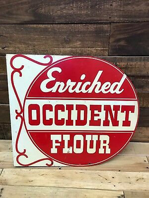 Enriched Occident Flour, Food, Baking, General Store, Sign