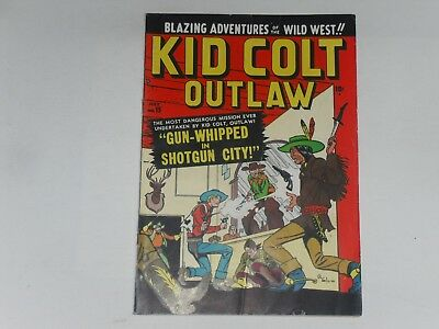Kid Colt Outlaw  #15 July 1951    Atlas Western Comic     Crease On Cover