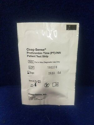 Lot of 25 Coag-Sense Prothrombin Time PT/INR Test Strip Kit Units