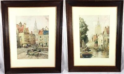 19th CENTURY VICTORIAN PAIR OF JAMES ROBERTSON MILLER WATERCOLOURS  1880 - 1890