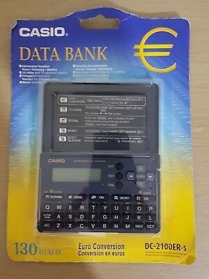 Casio Data Bank DC-2100ER-s Euro Conversion New & Sealed