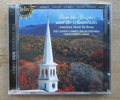 """Hyperion [1999]~""""From the Steeples & the Mountains"""" AMERICAN MUSIC for BRASS"""