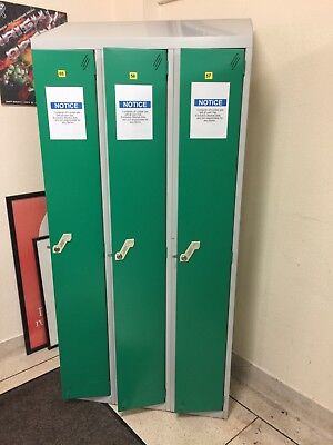 Sloping Top used metal lockers with Keys and shelf Inside