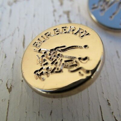 4 Burberry Logo Small Gold Buttons Round 16mm Replacement 4 DIY Jewelry Earrings