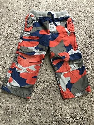 dd10ea0fd Boys Baby Boden Jersey Lined Pants, Red Blue Gray Camo Camouflage, 18-24