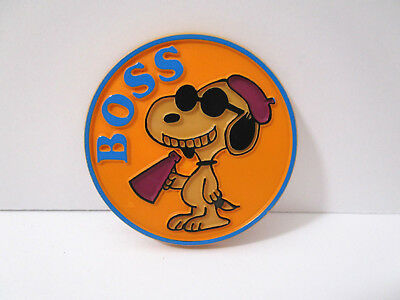 VINTAGE 1971  Butterfly Originals Snoopy pin Boss Movie Director Plastic pinback