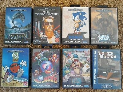 8 x EMPTY BOXES ONLY - For Sega Mega Drive Games (Good Condition)