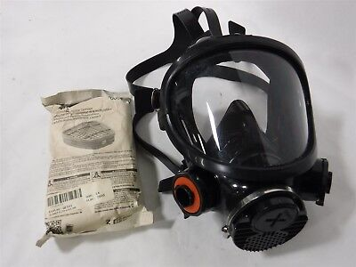USED 3M 7800S-M Full Face Respirator – Medium 6004 Cartridges N9