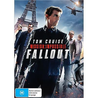 Mission Impossible Fallout DVD 2018 M / All DVD's $4, $6 or $8 - Over 300 Titles