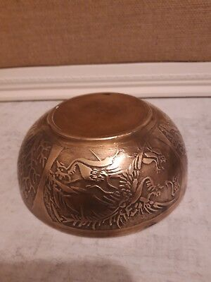 Lovely Chinese bronze bowl Signed.