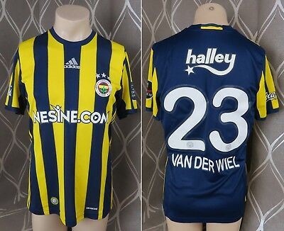 Match worn issue Fenerbahce shirt 2016-17 home adidas jersey Van der Wiel 23