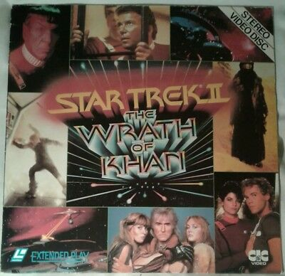 Star Trek II: The Wrath of Khan. Laserdisc laser disc