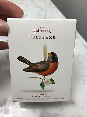 HALLMARK 2018 14th In The Beauty Of Birds Series Robin NIB