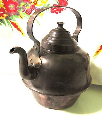 Vølund Hamar 2 Antique Hand Forged Copper Kettle Tin Lined 8+ Cup Made in Norway