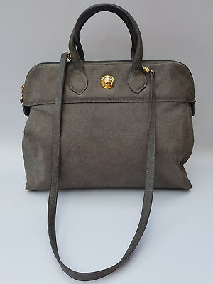 CHLOE Bag. Chloé Vintage Black Grey Suede / Nubuck Leather Shoulder Bag .