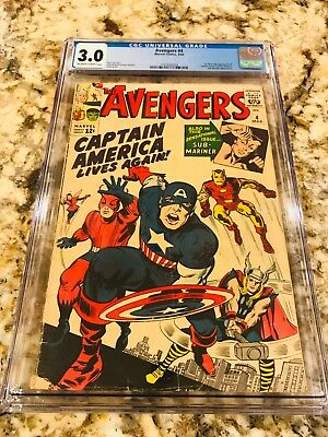 Avengers #4 Cgc 3.0 Ow-Wh Pgs 1St Silver Age Appearance Of Captain America 1964