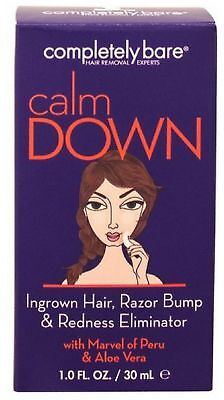 Completely Bare Calm Down Ingrown Facial Hair, Razor Bump & Redness Eliminator