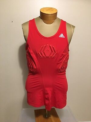 $55 Adidas Basketball Men's Sz XL Padded Tank Red Techfit Compression S05380