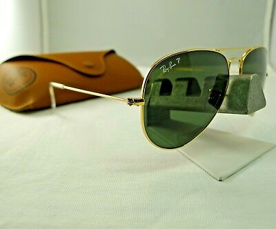 8875ce73ea Ray-Ban Rb3025 001 58 Gold G-15 Green Polarized Aviator Sunglasses 58Mm