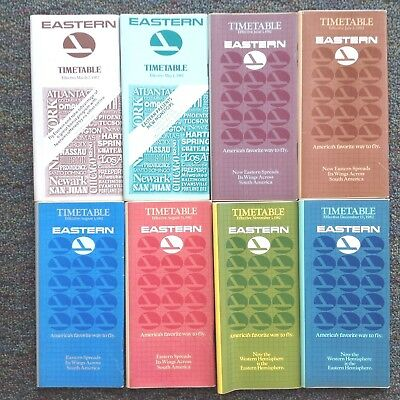 1982 (8) Eastern Air Lines Timetables Vgc