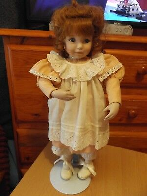 "Dianne Vintage Sweet 14"" Porcelain Doll And Free Doll."