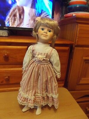 "Betty Pretty Vintage Homeart 18"" Porcelain Doll & A Free Doll."