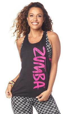 ee68ae41e9 ZUMBA GAME CHANGER Loose Tank - Bold Black Z1T01776 - $19.00   PicClick