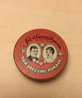 Vintage Black Americana Sweet Georgia Brown Hair Dressing Pomade Sample Size