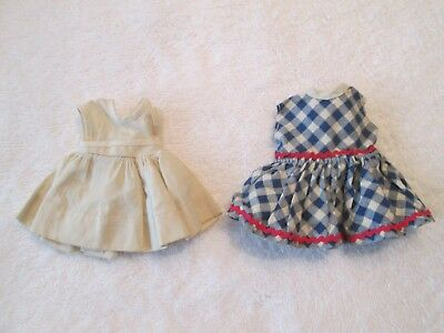 Vintage 1950's Vogue Ginny & Ginger Doll Red, White and Blue Dress Clothes Lot