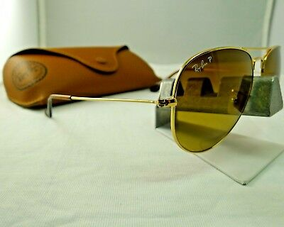 5253561451 Ray-Ban Rb3025 001 m2 Gold Brown Gradient Polarized Aviator Sunglasses 58Mm  9.9