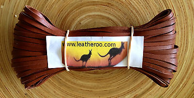 "Kangaroo Lace WHISKEY Kangaroo Leather Lacing (3.0mm 1/8"" Width) 10 meter hank"