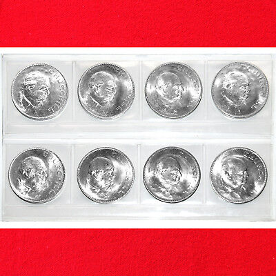 1965 Sir Winston Churchill Uk Great Britain Commemorative Crowns (8 Coins)