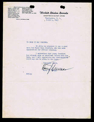 Harry Truman Signed Autographed 1943 Typed Letter Beckett BAS