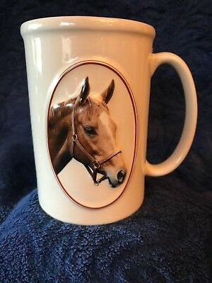 Equine Expressions Chestnut Brown Horse Face Tall Coffee Mug / Cup - Elnc