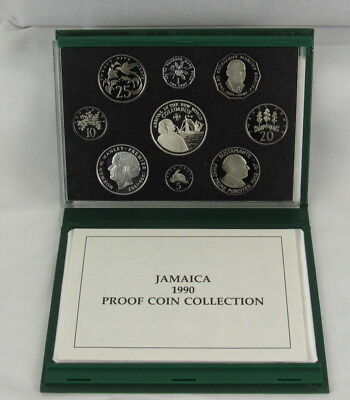 Jamaica 1990 Proof Set - Scarce - Only 500 Minted
