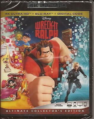 WRECK-IT RALPH 4K ULTRA HD + BLU-RAY + DIGITAL Disney NEW SEALED 2012/2018