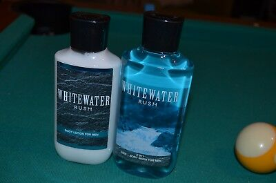Bath & Body Works *WHITEWATER RUSH For Men* Lotion & 2 in 1 Hair/Body Wash SET!!