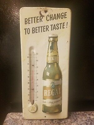 Vintage Metal Advertising Thermometer Regal Beer New Orleans American Brewing Co