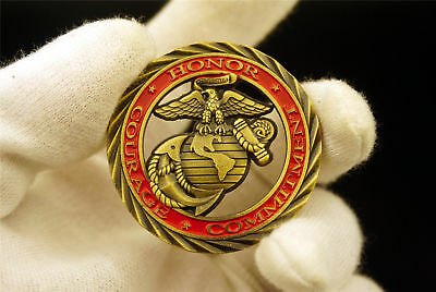 US Marine Corps Challenge Coin USMC Honor Courage Commitment Semper Fi Collect
