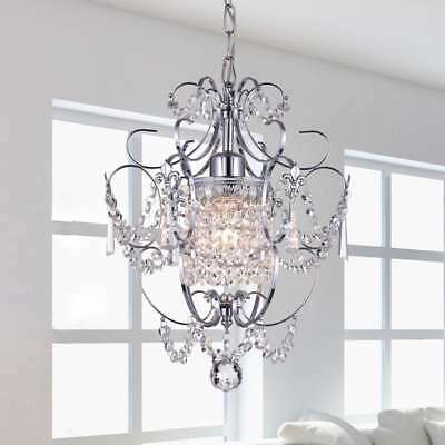 Girls Chandelier Kids Childs Small Nursery Mini Crystal Closet Hall Pendant Lite