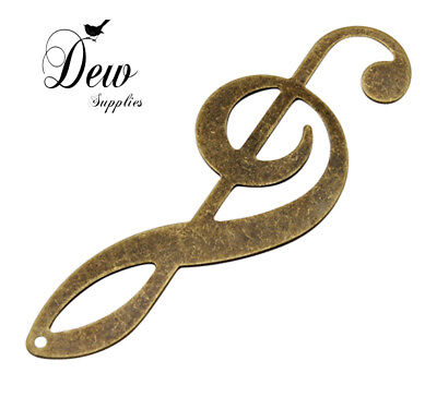10 x vintage style Music notes Brass Pendants, Antique Bronze charm dewsupplies