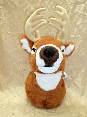 Plush Deer Head Wall Mount Stuffed Animal Soft Squeezable Collection