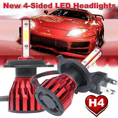 CREE H4 HB2 9003 1700W 255000LM 4-Sides LED Headlight Kit Hi/Lo Power Bulb 6000K